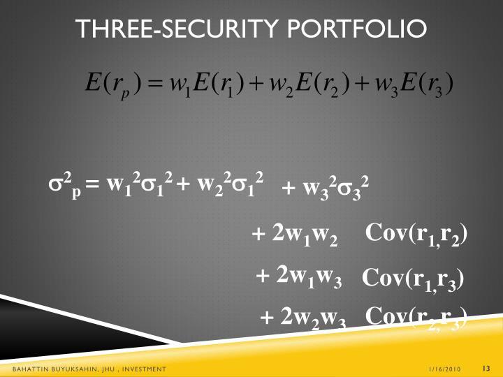 Three-Security Portfolio