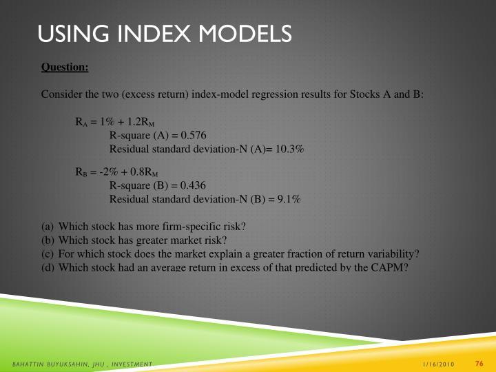 Using Index Models