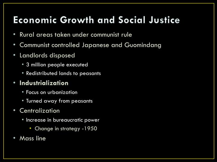 Economic Growth and Social Justice
