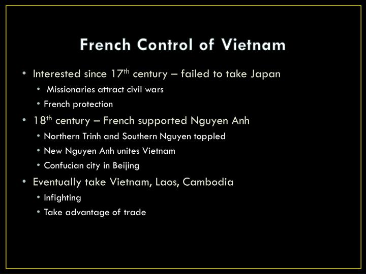 French Control of Vietnam