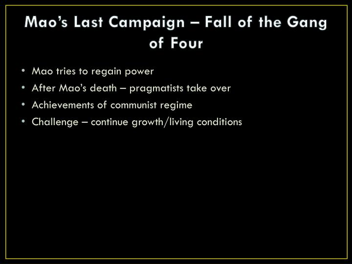 Mao's Last Campaign – Fall of the Gang of Four