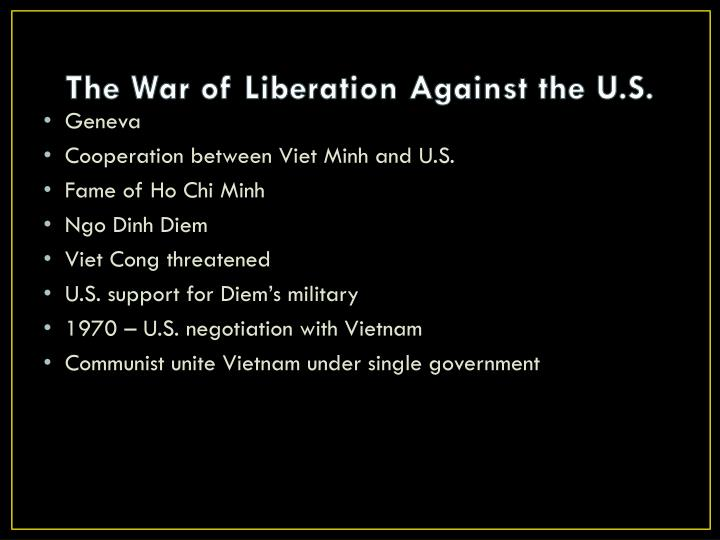 The War of Liberation Against the U.S.