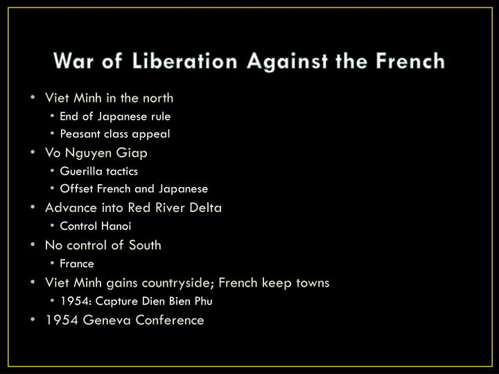 War of Liberation Against the French