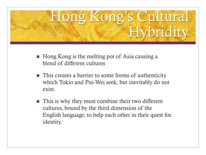 Hong Kong's Cultural