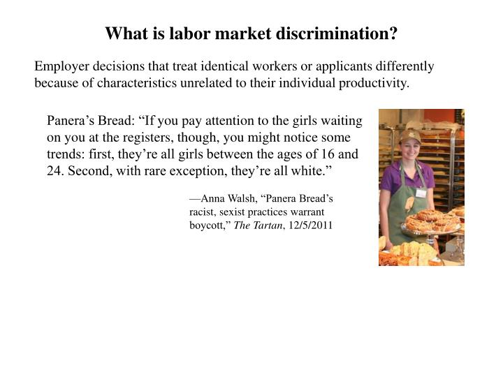 What is labor market discrimination?