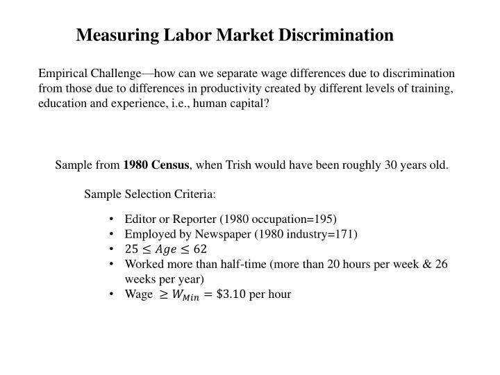 Measuring Labor Market Discrimination