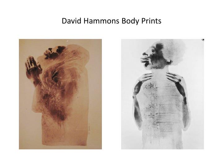 David Hammons Body Prints