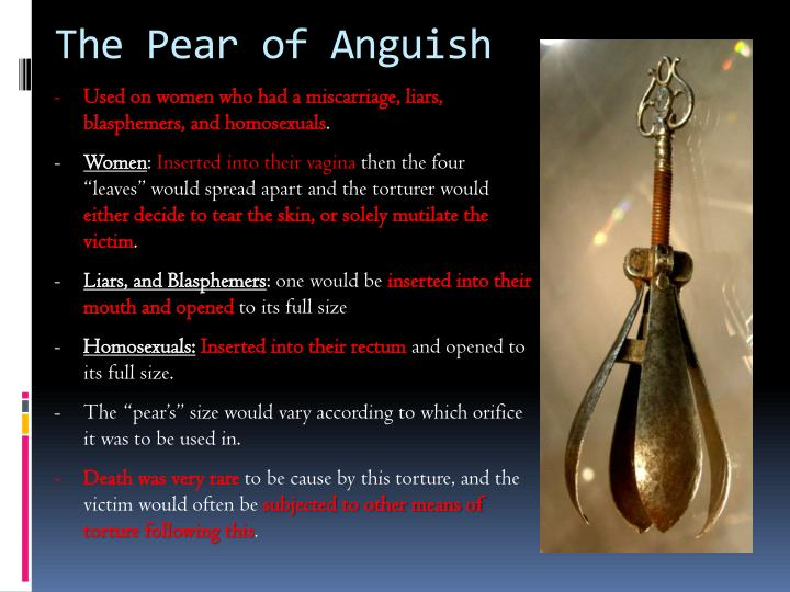 Pear of anguish being used video