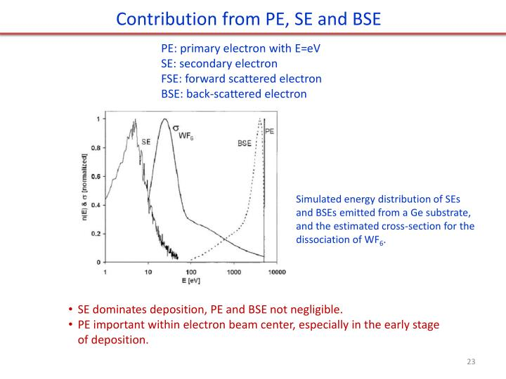 Contribution from PE, SE and BSE