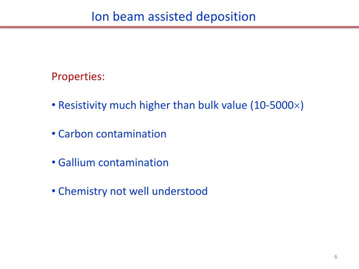Ion beam assisted deposition