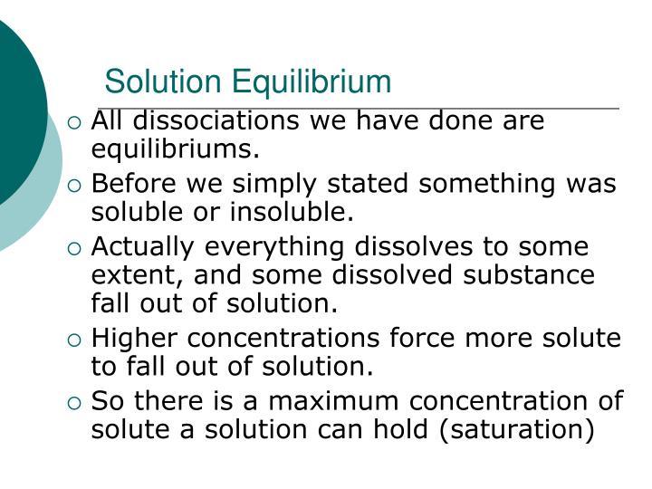 Solution Equilibrium