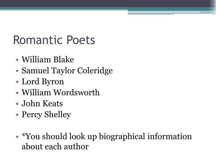 Romantic Poets