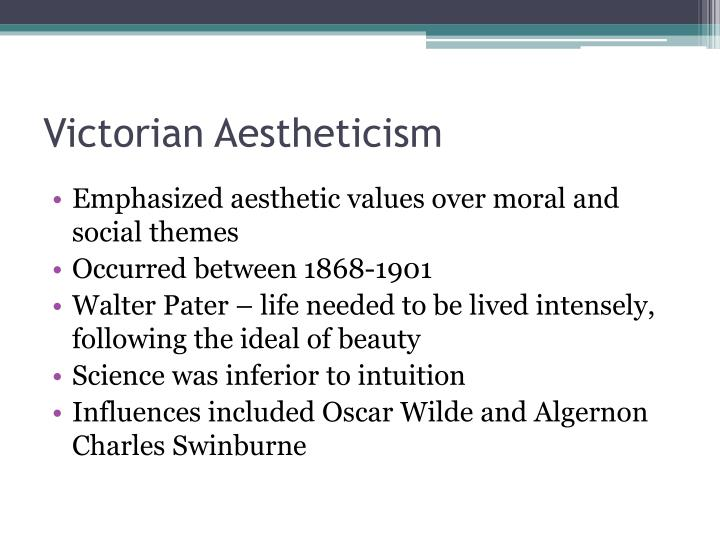 Victorian Aestheticism
