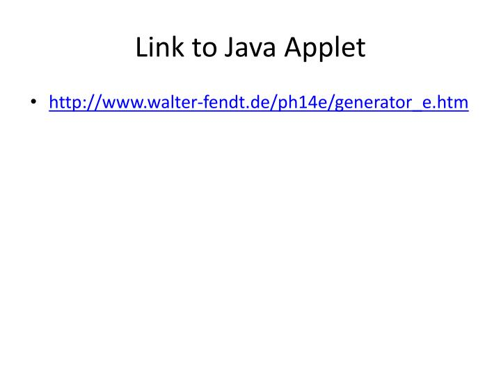Link to Java Applet
