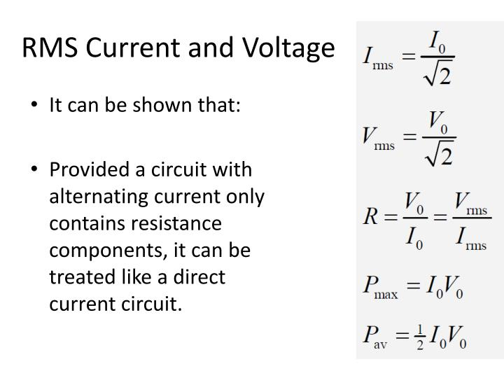 RMS Current and Voltage