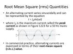 root mean square rms quantities