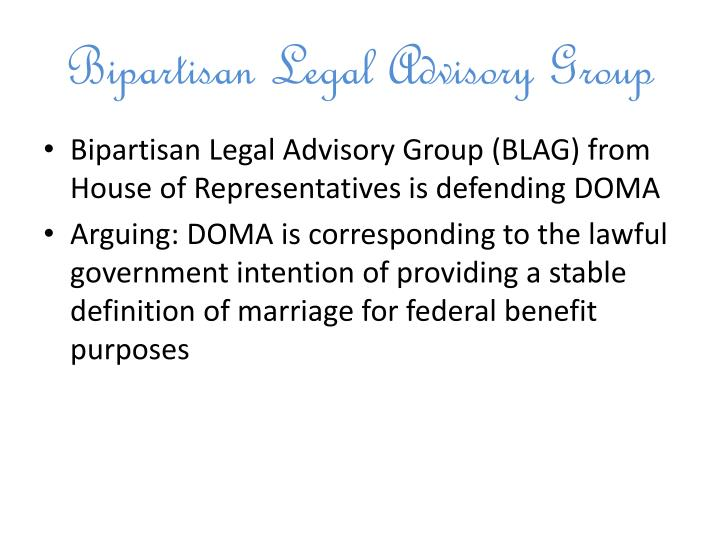 Bipartisan Legal Advisory Group