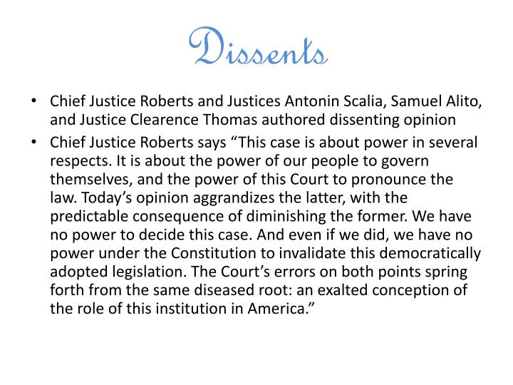 Dissents