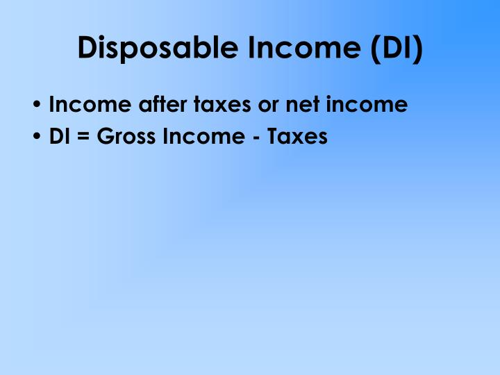 Disposable income di