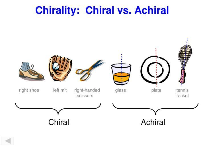 Chirality:  Chiral vs. Achiral