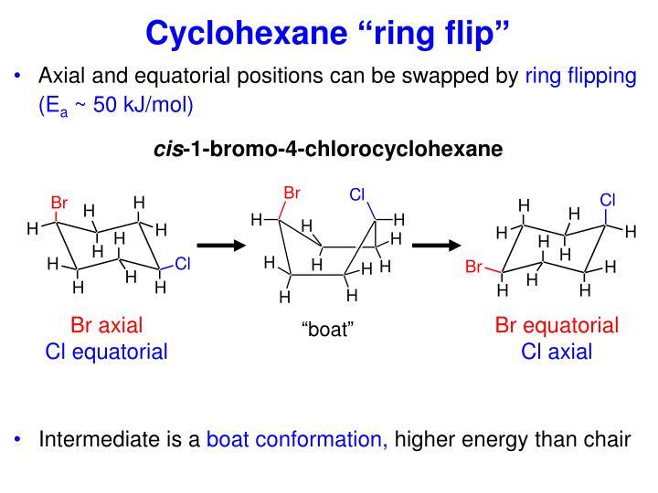 "Cyclohexane ""ring flip"""