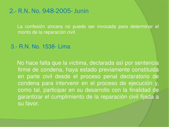 2.- R.N. No. 948-2005- Junin