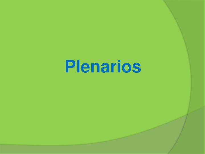 Plenarios