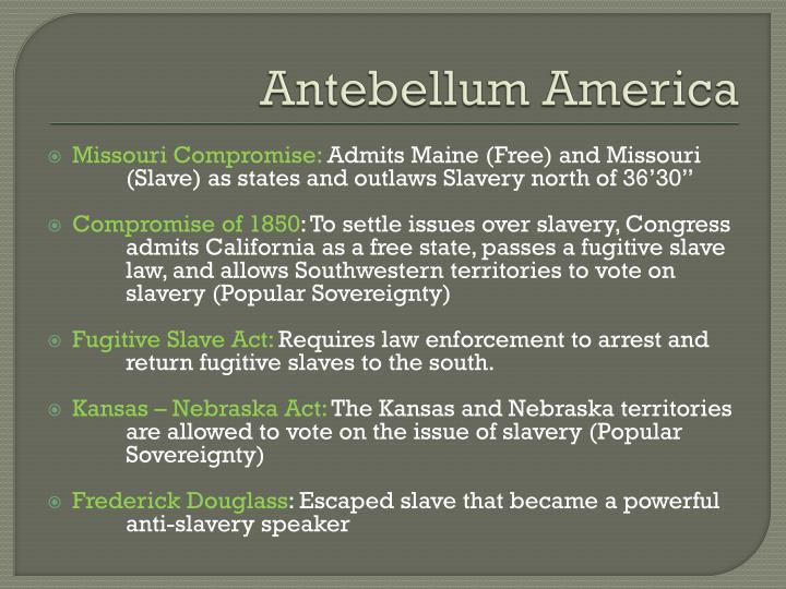 Antebellum America
