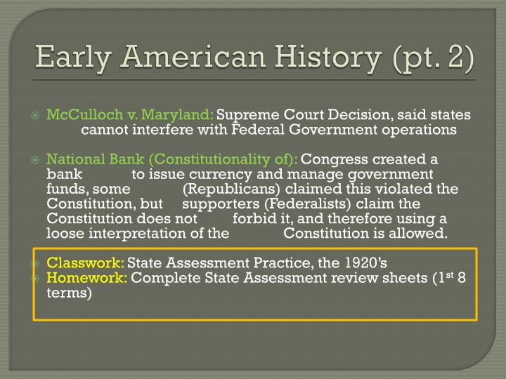 Early American History (pt. 2)