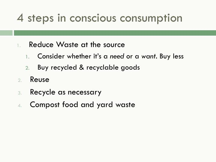 4 steps in conscious consumption