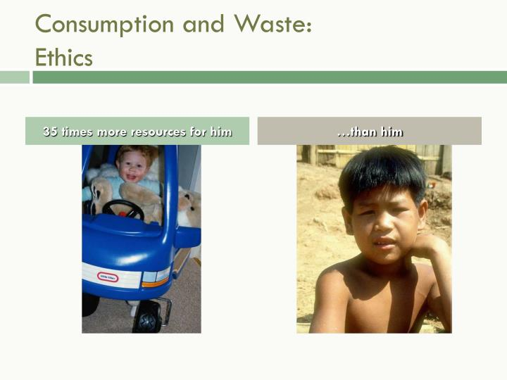 Consumption and Waste: