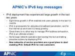 apnic s ipv6 key messages