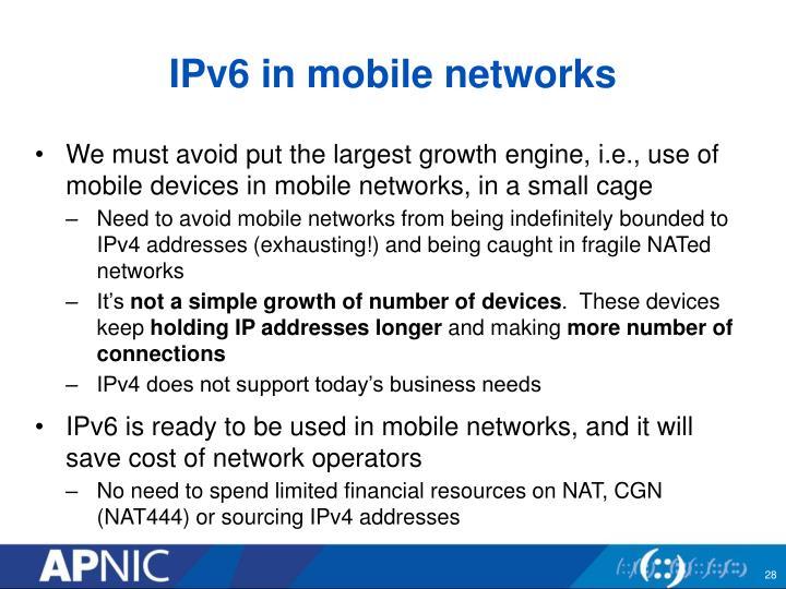 IPv6 in mobile