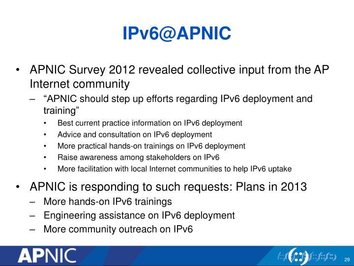 IPv6@APNIC