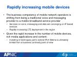 rapidly increasing mobile devices