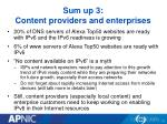 sum up 3 content providers and enterprises