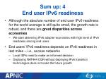 sum up 4 end user ipv6 readiness