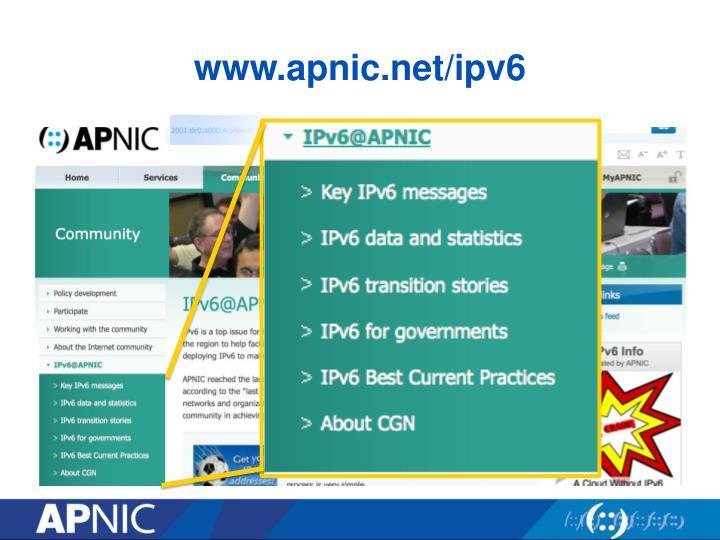 www.apnic.net/ipv6