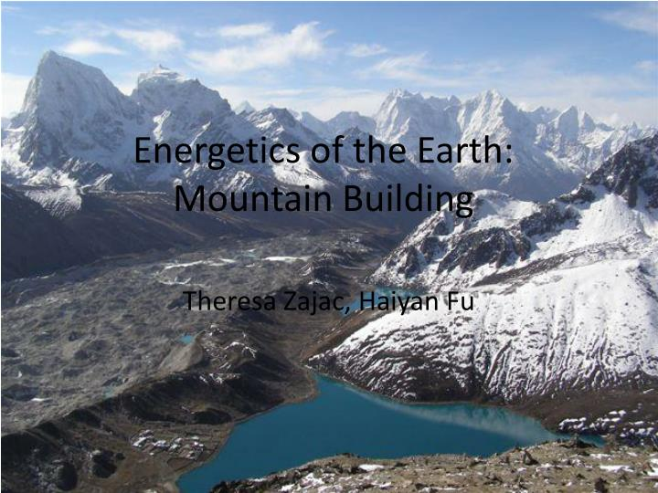 energetics of the earth mountain building