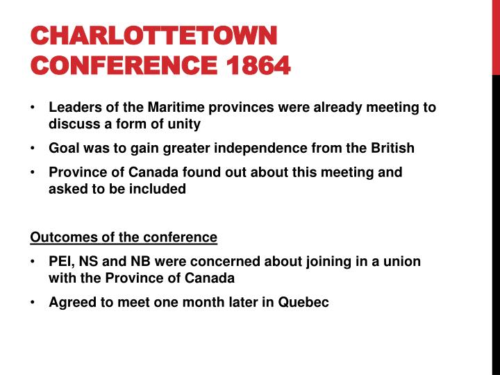 Charlottetown conference 1864