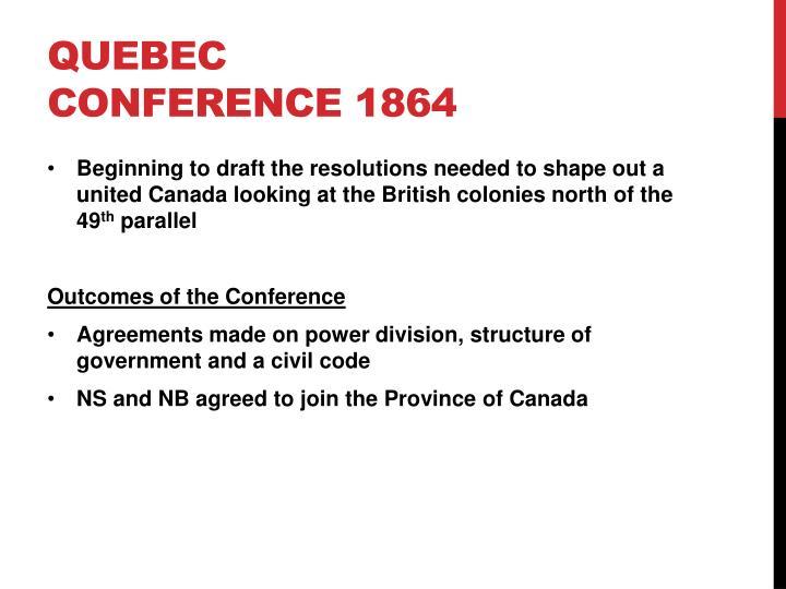 Quebec conference 1864