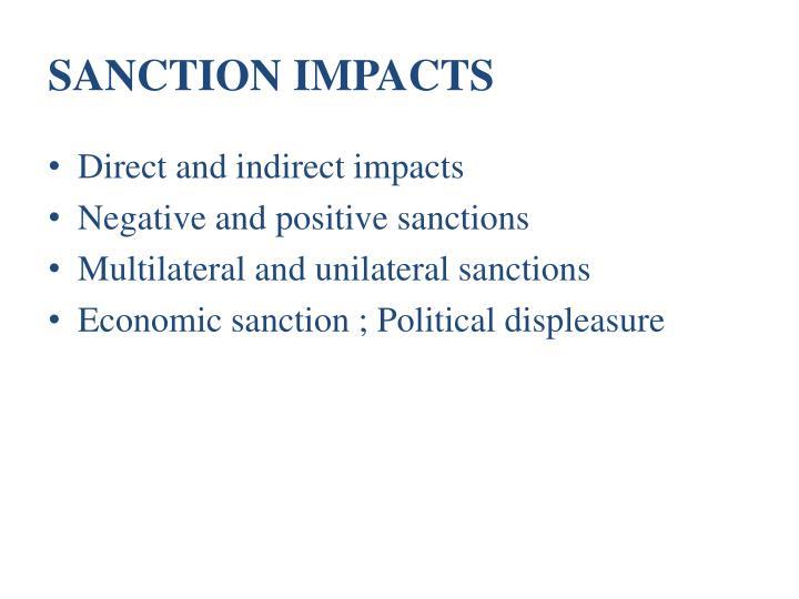 SANCTION IMPACTS