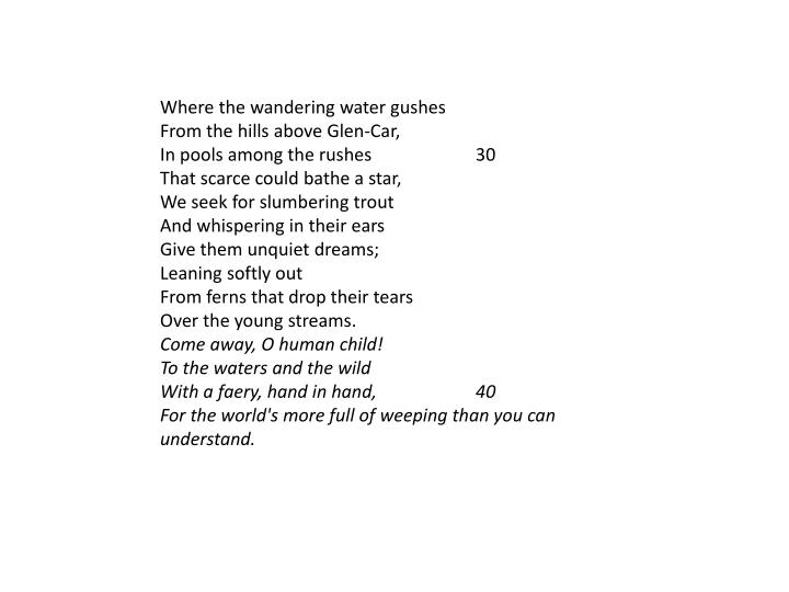 Where the wandering water gushes