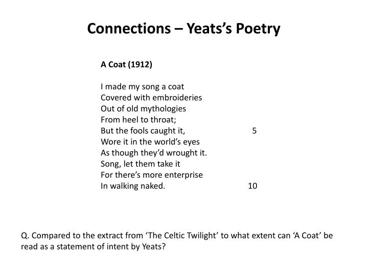 Connections – Yeats's Poetry