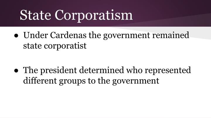 State Corporatism