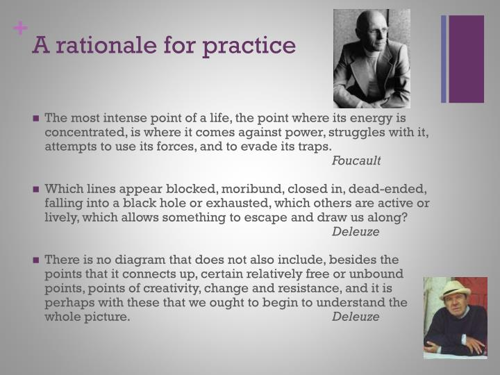A rationale for practice