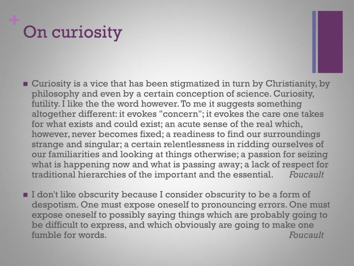 On curiosity