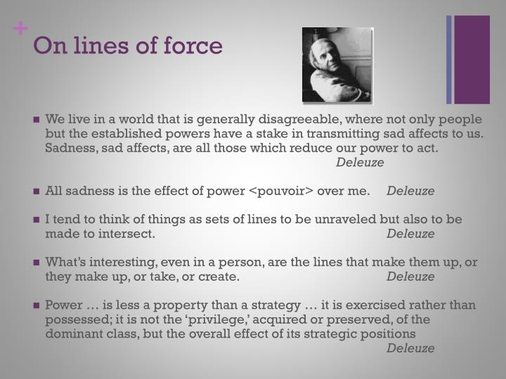 On lines of force