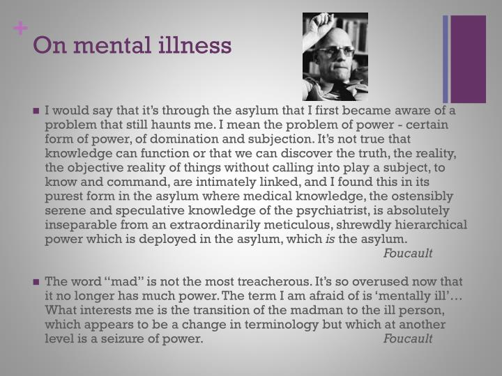 On mental illness