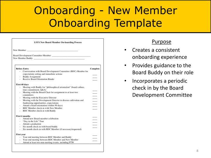 Onboarding - New Member Onboarding Template